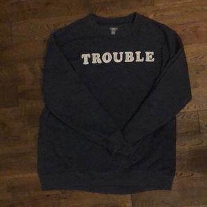 Long sleeve navy blue sweatshirt